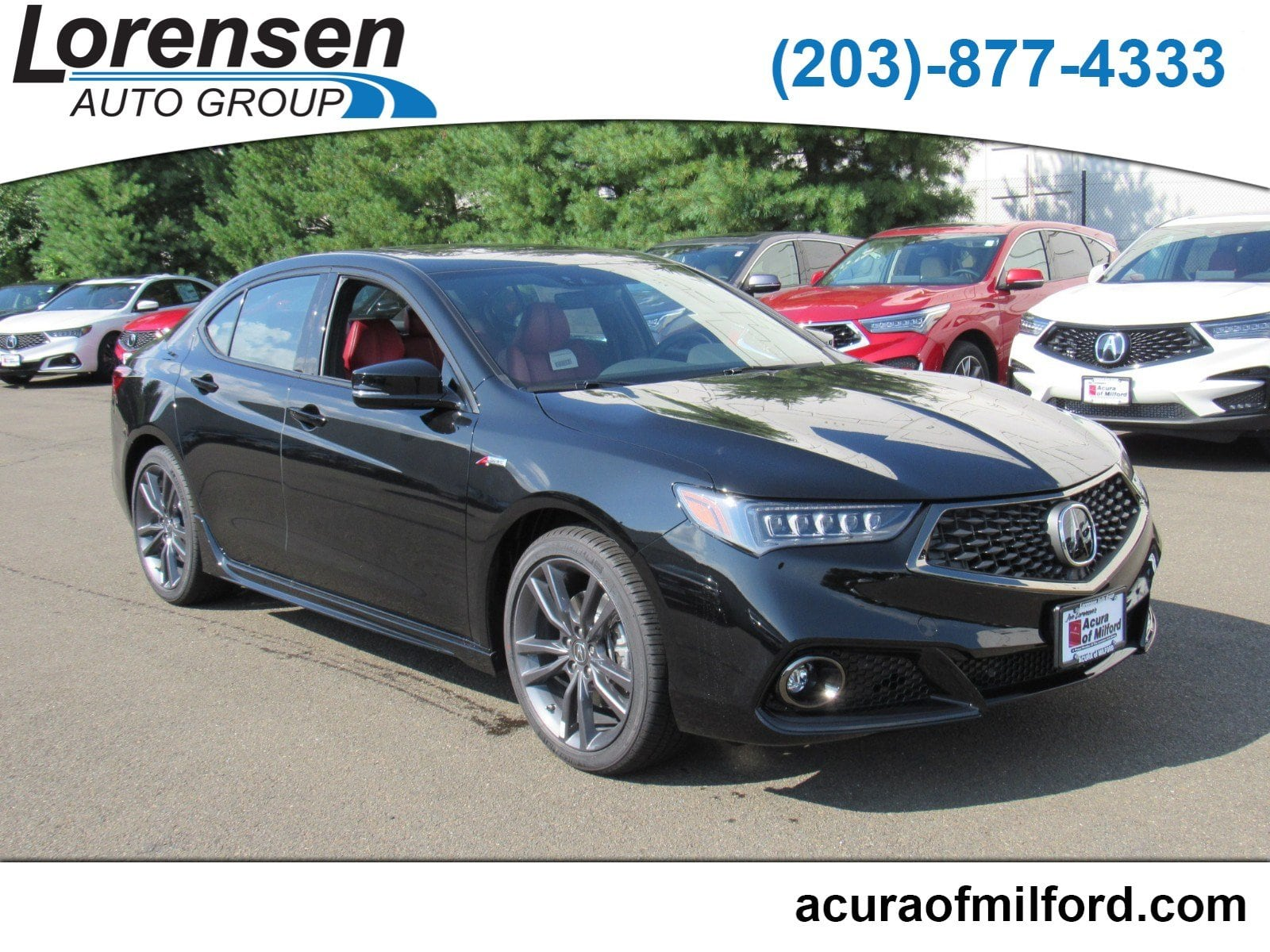 New 2019 Acura TLX 3 5 V 6 9 AT SH AWD with A SPEC RED 3 5L SH AWD w