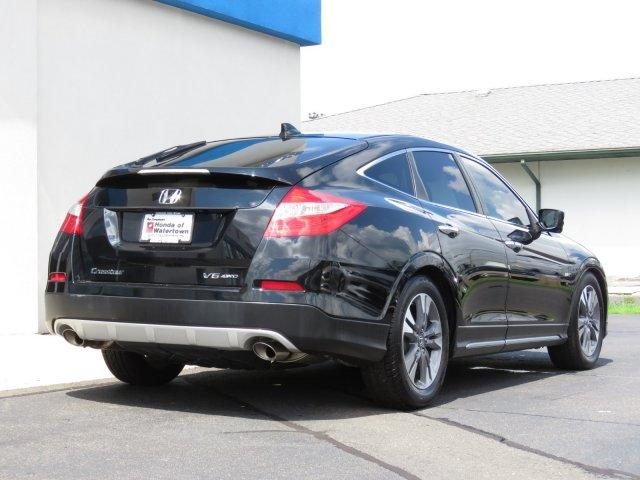 Pre Owned 2013 Honda Crosstour 4wd V6 5dr Ex L 4dr Car In Canton